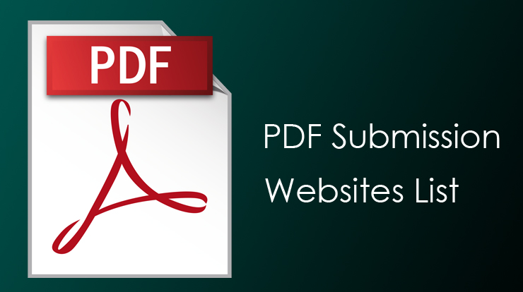 PDF Submission Sites 2019